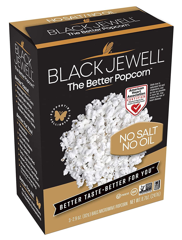 Black Jewell No Salt Oil Popcorn 8.7 half Max 78% OFF Ounces Microwave Pack