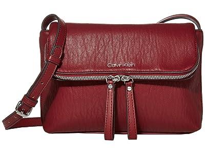 Calvin Klein Elaine Bubble Lamb Novelty Crossbody (Currant) Cross Body Handbags