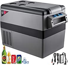 VBENLEM 45L Compressor Portable Small Refrigerator 12V DC and 110V AC Car Refrigerator Freezer Vehicle Car Truck RV Boat Mini Electric Cooler for Driving Travel Fishing Outdoor and Home Use