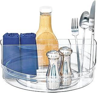 iDesign Organiseur de table rotatif en plastique sans BPA 29,3 x 29,3 x 11,8 cm