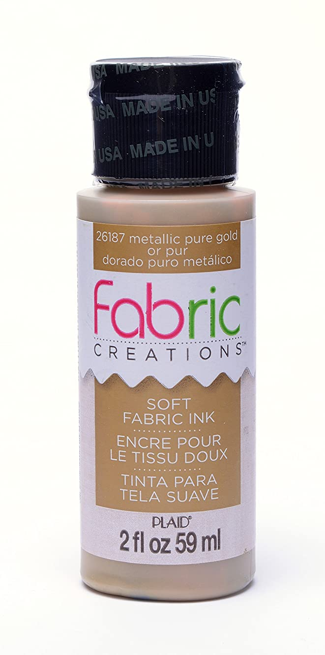 Fabric Creations Fabric Ink in Assorted Colors (2-Ounce), 26187 Metallic Pure Gold