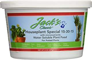J R Peters Inc Jacks 51508 Classic 15-30-15 Houseplant Special Fertilizer, 8-Ounce