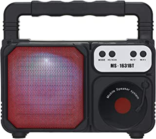 Meterk Portable Outdoor Speaker Colorful LED Light Super Bass Wireless Bluetooth Speakers FM Radio TF Card U Disk Music Pl...