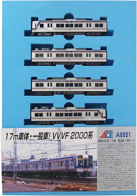 buscando agente de ventas Micro As N medidor de Nankai 2000 series series series coche secundaria nueva pintura 4-Coche set modelo A8051 tren de ferroCocheril  edición limitada en caliente