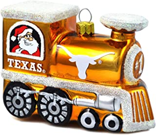 NCAA Texas Longhorns 3-Piece Glass Tear Drop Ornament Set