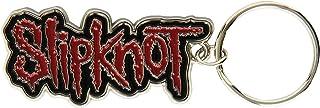 Slipknot Band Logo Name Black Red Metal Keyring Keychain Official Band Merch