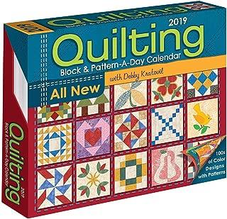 Quilting Block & Pattern-a-Day 2019 Calendar