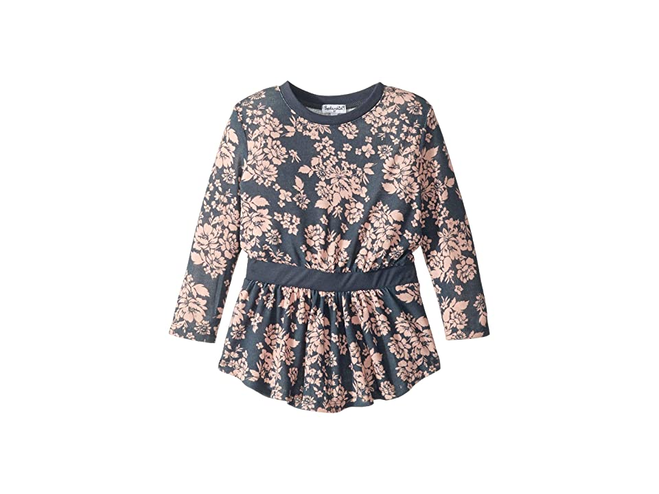Splendid Littles Floral Dress (Toddler) (Ombre Blue) Girl