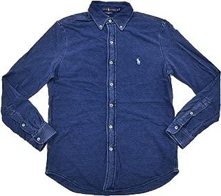 Mens Featherweight Mesh Buttondown Shirt (XL, MD Indigo)