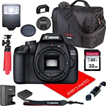 $219 » Canon EOS 4000D / Rebel T100 DSLR Camera Body Only (No Lens) + Canon Case + 32GB SD Card (13pc Bundle)