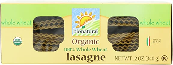 Bionaturae Lasagna Whole Wheat Pasta, 12-Ounce (Pack of 4)