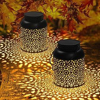Lanterne Solaire Extérieur, Orelpo Lampe Solaire Exterieur Jardin Décoration, Lanterne Suspendue Vintage IP44 Étanche Sans...
