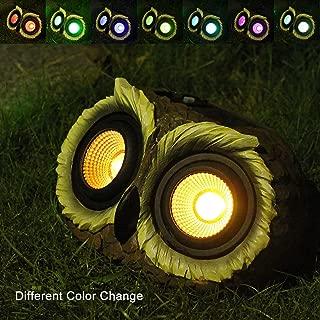 Romingo Owl Solar Lights Outdoor Waterproof Landscape Lighting Light Multi-Color Changing for Christmas Gift