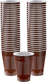 Big Party Pack Chocolate Brown Plastic Cups | 12 oz. | Pack of 50 | Party Supply