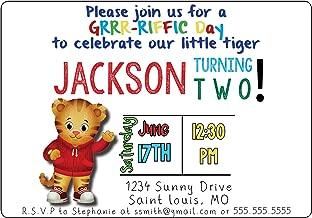 The Melange Market Custom Birthday Party Invitation - Daniel Tiger, Personalized