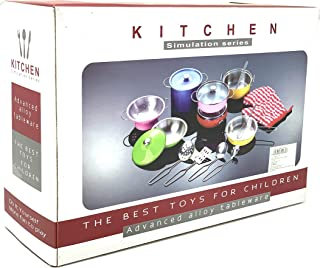 INCHOI JOYSAE Play Kitchen Pots and Pans Set, Kids Kitchen Set with Stainless Steel, Cookware Playset Kitchen Pretend Toys for Kids