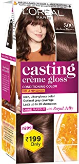 L'Oreal Paris Casting Crème Gloss Small Pack, 500 Medium Brown, 45g