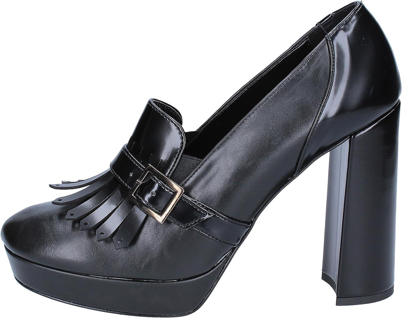 OLGA RUBINI Loafers-shoes Womens Leather Black