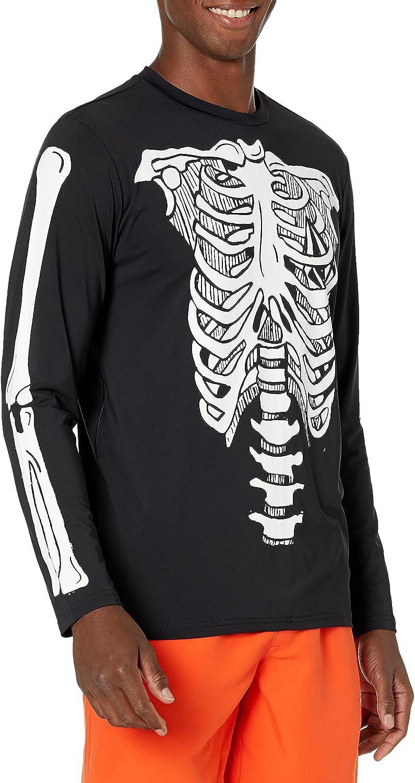 Volcom Men's Standard Confuse Long Sleeve Loose Fit Rashguard Surf Swim Shirt 50+ UPF Protection