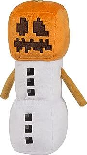 JINX Minecraft Snow Golem Plush Stuffed Toy, White/Orange, 11.5