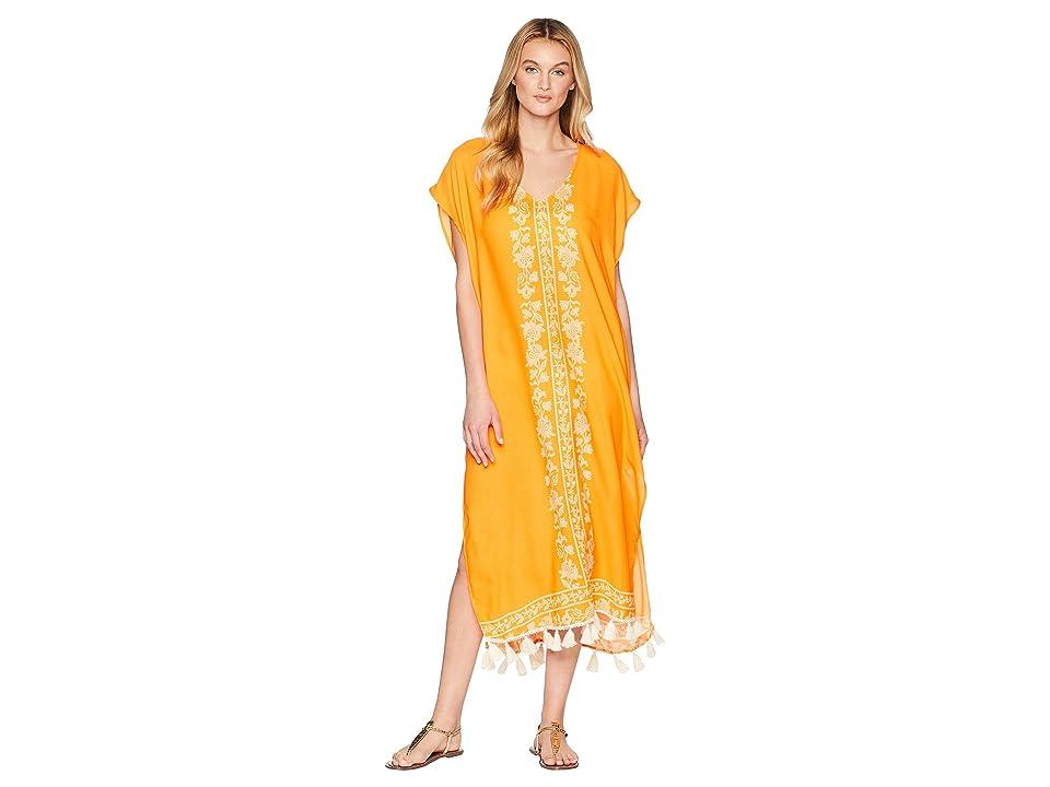 Show Me Your Mumu Shelly Tassel Maxi Dress (Nomad Blintz Clementine) Women