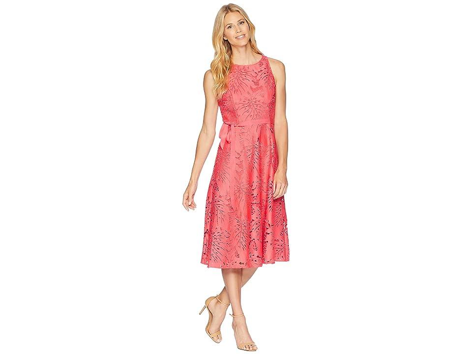 Tahari by ASL Lace Midi Dress (Watermelon) Women