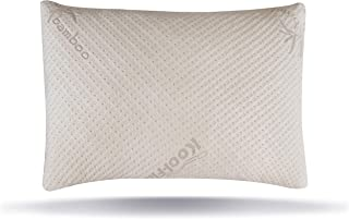 Snuggle-Pedic Ultra-Luxury Bamboo Shredded Memory Foam Pillow Combination with Adjustable..