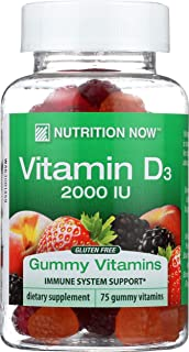NUTRITION NOW Vitamin D Adult Gummy, 75 Ounce