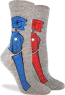 Good Luck Sock Women's Rock 'em Sock 'em Robots Socks - Adult Shoe Size 5-9