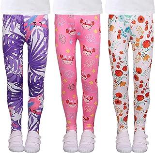 شلوارهای کششی دخترانه شلوار ورزشی بچه گانه بچه گانه قوزک پا 3 بسته 4-13 سال