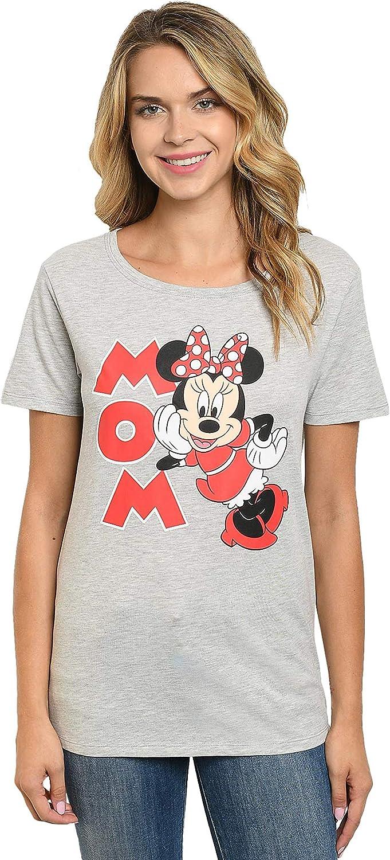 Disney Womens T-Shirt Minnie Mouse Lean in Side Print