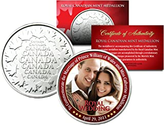 ROYAL WEDDING * Prince William & Kate * Royal Canadian Mint Medallion Coin