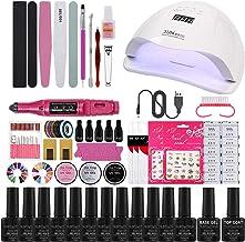Gel Nail Polish Set with uv lamp 10pcs Nail Gel Kits with lamp Manicure Sets for Nail (A2B)