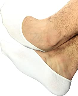 Quality Mens No Show Socks STOMPERJOE Up To Size 13-15 Cool Cotton Stay-on Boat Shoe Socks