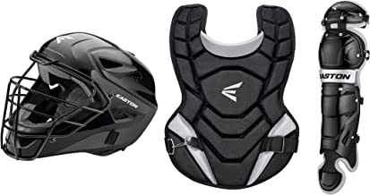 EASTON BLACK MAGIC 2.0 Youth Catchers Protective Box Set | 2020 | Black | Helmet | Chest Protector | Leg Guards | ABS Shell Helmet & Steel Cage | Dual-Density Foam | Double Knee Protection