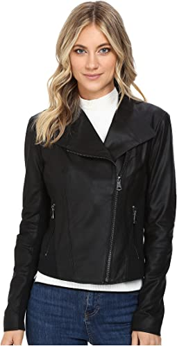 "Marc New York by Andrew Marc Felix 19"" Feather Leather Jacket"