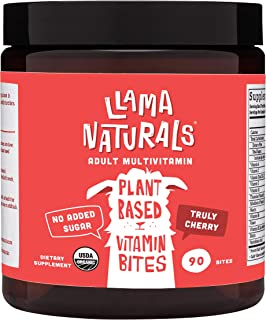 Sponsored Ad - Llama Naturals Plant Based Vitamin Bites (Adults); Organic; No Added Sugar, Sweeteners or Synthetics; Vegan...