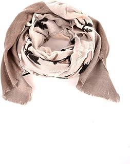 TigerTie foulard in grigio bianco Batik motivo con frange panno dimensione 100 x 100 cm