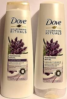 Dove Nourishing Rituals Haircare - Thickening Ritual - Shampoo & Conditioner Set - Net Wt. 12 FL OZ (355 mL) Per Bottle - One Set