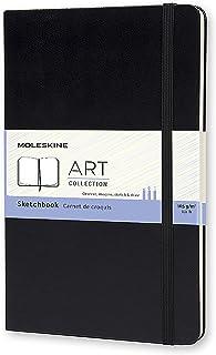 """Moleskine Art Sketchbook, Hard Cover, Large (5"""" x 8.25"""") Plain/Blank, Black, 104 Pages"""