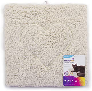 SmartyKat Crinkle Cloud Plush Crinkle Cat Mat and Bed,  Cream