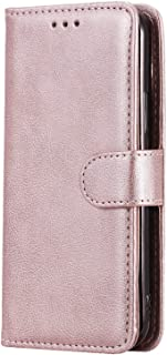 Simple Flip Case Fit for Samsung Galaxy A50, rose gold Leather Cover Wallet for Samsung Galaxy A50
