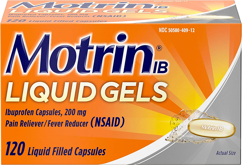 Motrin IB 200mg Ibuprofen Liquid Pain Reliever Fever Reducer Super-cheap Very popular Gel
