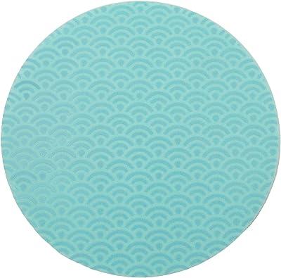 シリコーン 鍋しき 波 ブルー 11-131-03