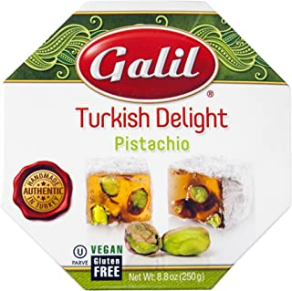Galil Turkish Delight Octagon, Pistachio, 8.8-Ounce Box (Pack of 1)