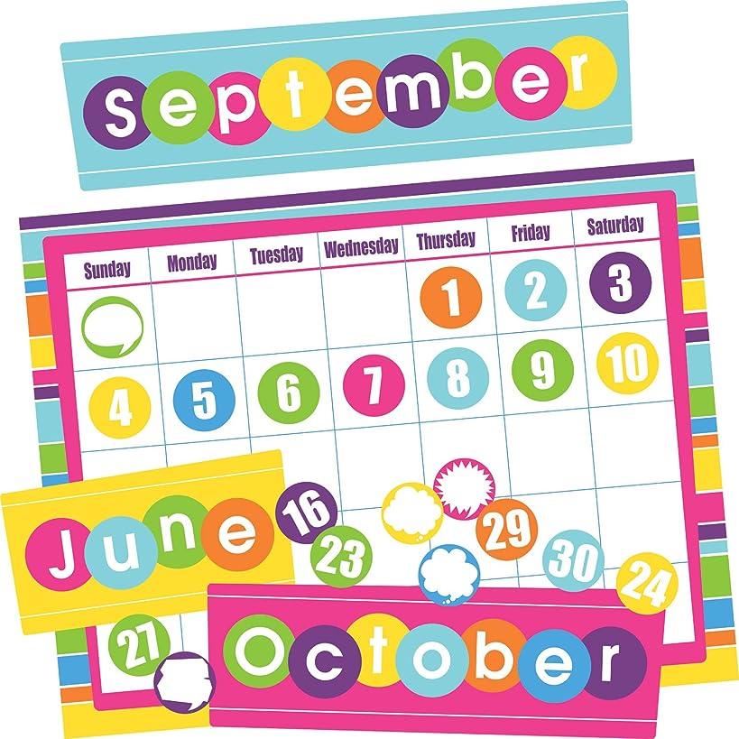 Barker Creek Calendar Chart Set - Happy, 49 Pieces per Set (BC531)