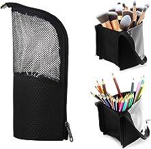Makeup Brush Organzier Bag,High Capacity Portable Stand-Up Makeup Brush Holder,Professional Artist Makeup Brush Sets Case ...