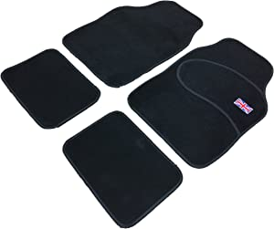 XtremeAuto  Universal Country Flag Car Carpet Mats Heavy Duty For Floor Well  Union Jack