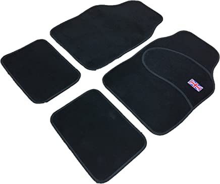 XtremeAuto  set Universal Fit Full Set Front  amp  Rear All Carpet Car MATS Union Jack INCLUDES Sticker