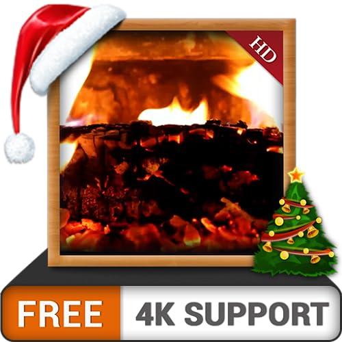 Cosy Fireplace HD FREE - Dekorieren Sie Ihren Fernsehraum mit Hot Romantic Fireplace auf Ihrem 4K-Fernseher und Ihren Feuergeräten als Hintergrundbild und Thema für Mediation und Frieden